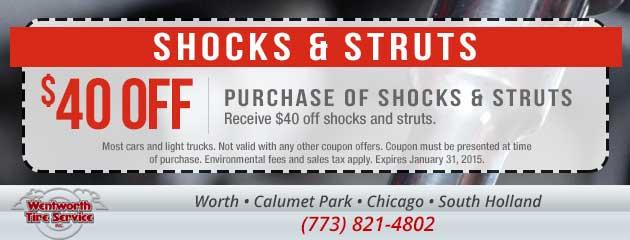 $40 Off Shocks and Struts