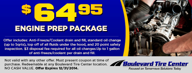 $64.95 Engine Prep Package