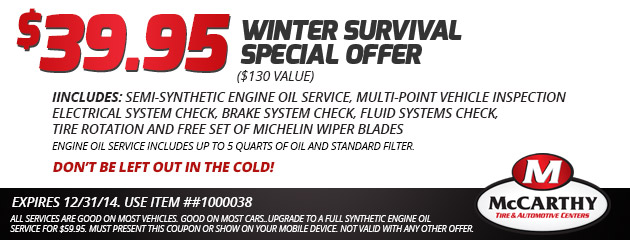 $39.95 Winter Survival Special Offer