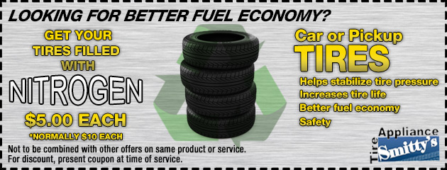 Nitrogen Filled Tires