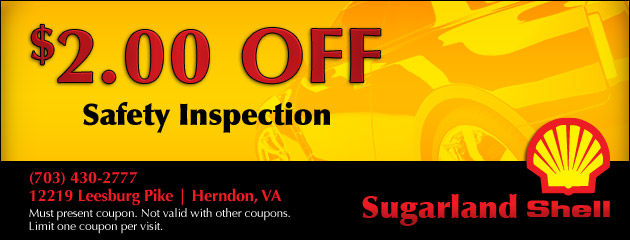 $2 Off Safety Inspection
