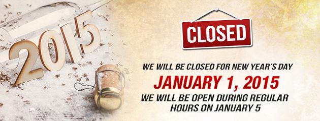 New Years Hours - JB