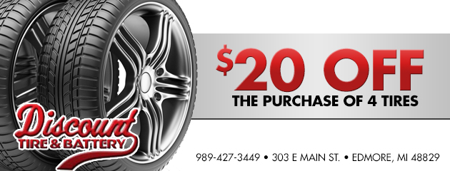 $20 Off the purchase of 4 tires