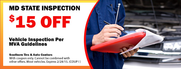 $15 Off MD State Inspection