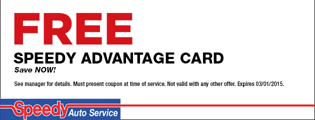 Free Speedy Advantage Card