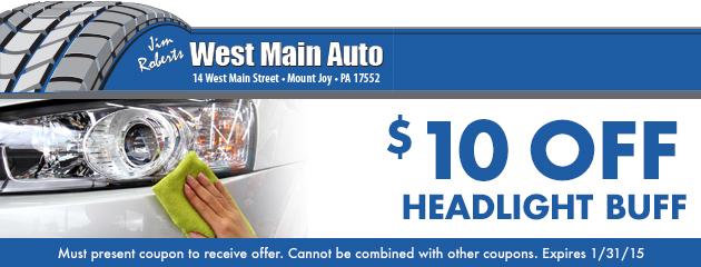 $10 Off Headlight Buff