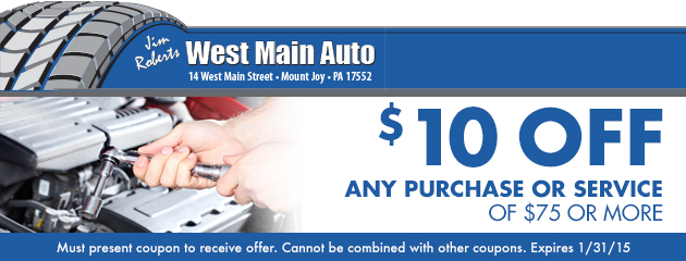 $10 Off Any Purchase or Service of $75 or more