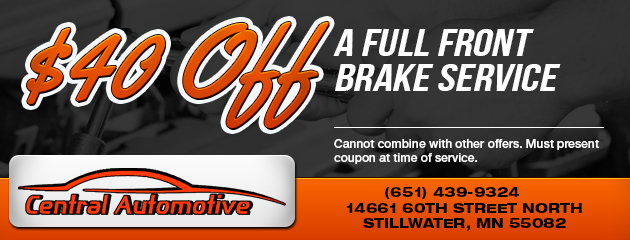 $40 Off Full Front Brake Service
