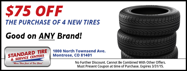 $75 Off Any 4 New Tires
