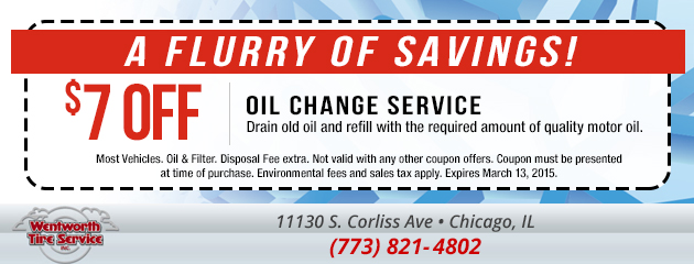 $7 Off Oil Change Service