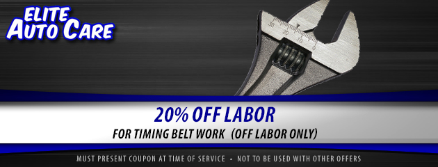 Timing Belt Special - 20% Off Labor