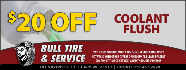 $20 Off Coolant Flush