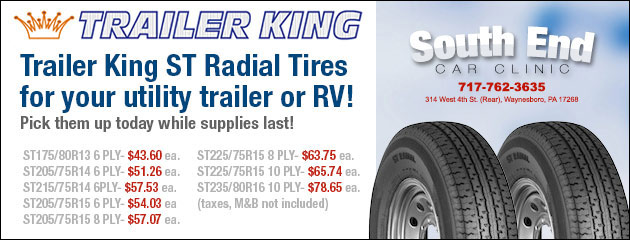 Trailer King ST Radial Tires for your utility trailer or RV!