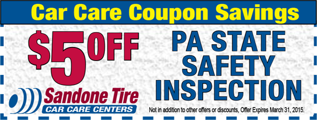 $5 Off PA State Safety Inspection