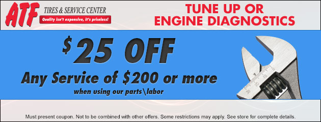 $25 Off Any Service of $200 or more