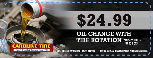 $29.99 Oil Change with Tire Rotation