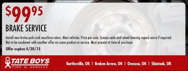 Brake Service - $99.95