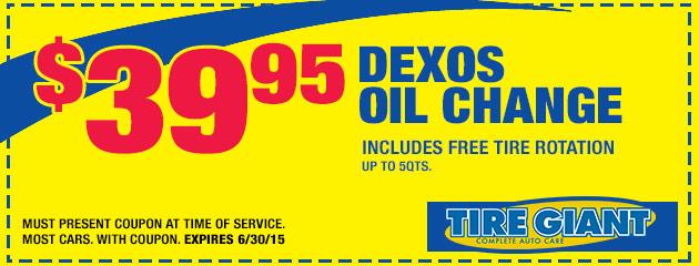 Dexos Oil Change