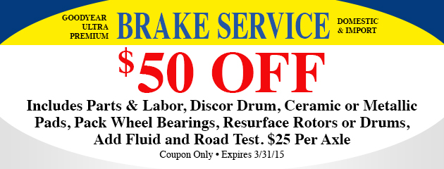 $50 Off Brake Service