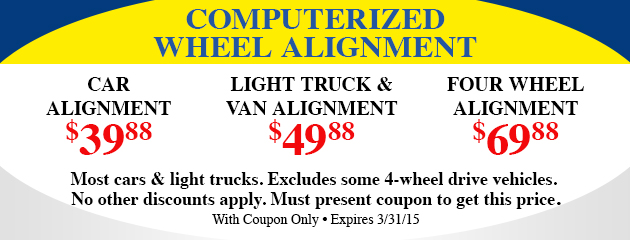 Computerized Wheel Alignment Special