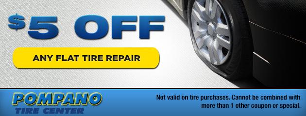$5 Off Flat Tire Repair