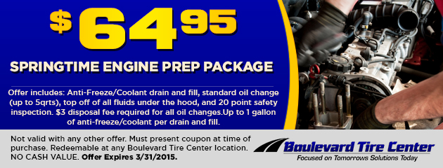 $64.95 Springtime Engine Prep Package