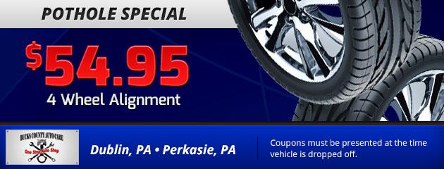 $54.95 4 Wheel Alignment