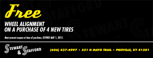 Free Alignment on a Purchase of 4 New Tires