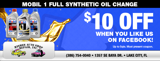 $10 Off Mobil 1 Full Synthetic Oil Change
