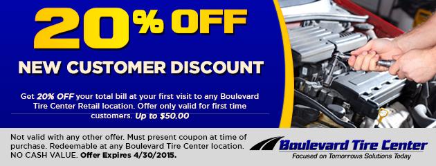 20% Off New Customer Discount