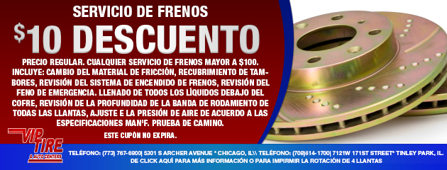 SERVICIO DE FRENOS