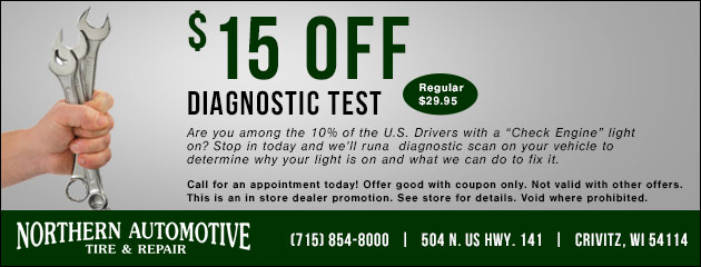 $15 Off Diagnostic Test