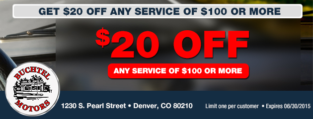 $20 Off Service $100 or more