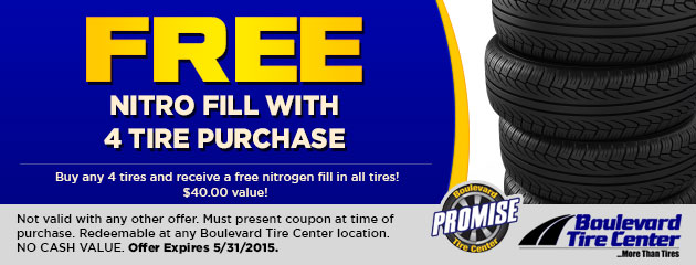 FREE NITRO FILL WITH 4 TIRE PURCHASE