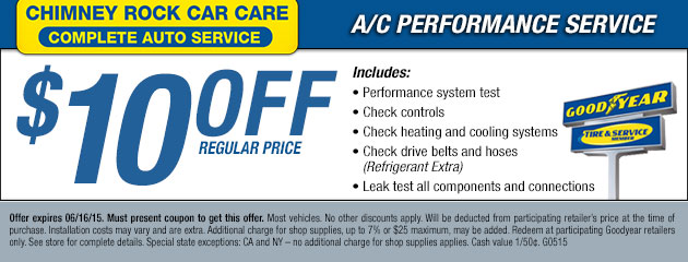 $10 Off A/C Performance Service