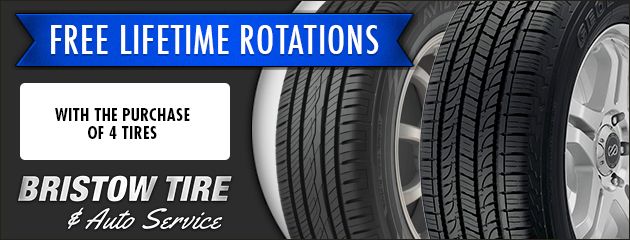 Free Lifetime Rotations with Purchase of 4 Tires