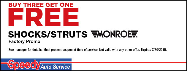 Buy Three Get One Free Shocks and Struts