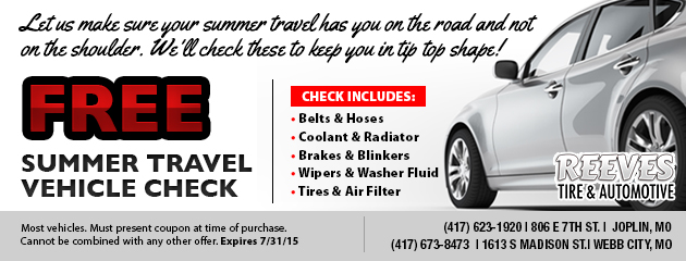 Free Summer Travel Check-Up