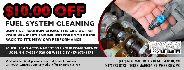 $10.00 Off Fuel Sysem Cleaning