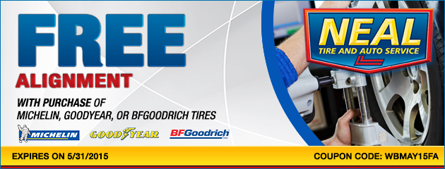 Free Wheel Alignment with Select Tire Purchase