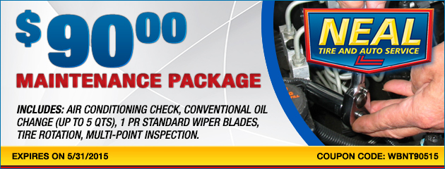 Maintenance Package -$90.00