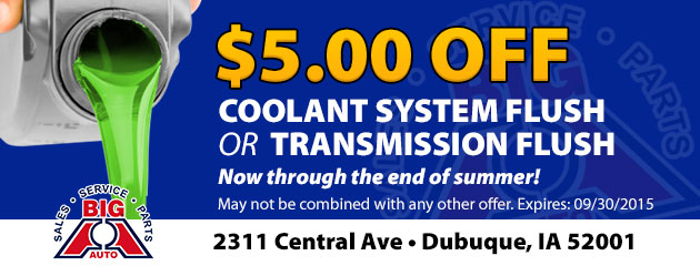 $5.00 Off Coolant Flush or Transmission Flush Coupon