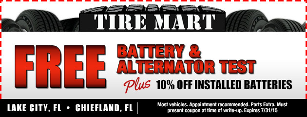 Free Battery and Alternator Test Coupon