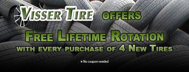 Visser Tire Free Rotation Promo