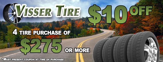 Visser Tire $10 Off Promo