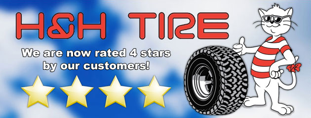 H&H Tire is now rated 4 stars by our customers!