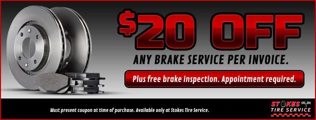 $20 Off Any Brake Service Per Invoice