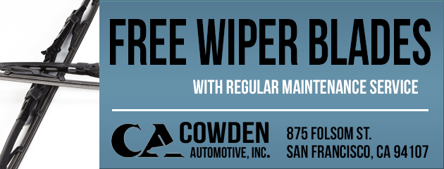 Free Wiper Blades with Regular Mantainance Service