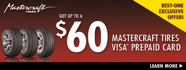 Mastercraft - $60 Prepaid Card