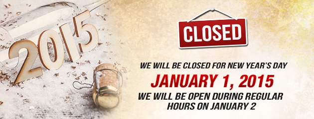 Holiday Hours - New Years